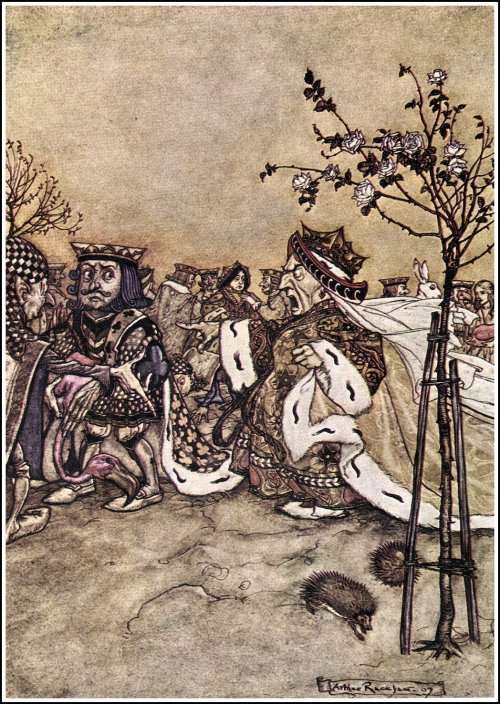 """""""Off with her head!"""" by Arthur Rackham"""