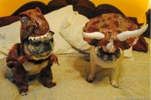Pugs as.... Dinosaurs?