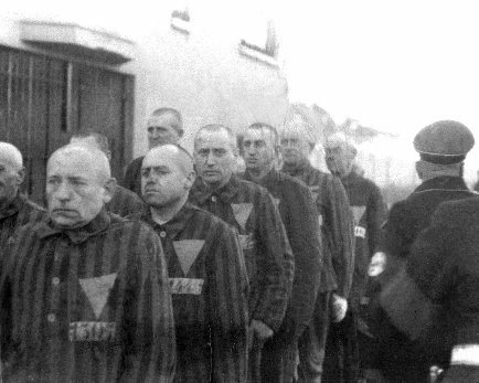 Prisoners in the concentration camp at Sachsenhausen Heinrich Hoffman Collection.