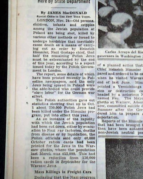 Himmler Program  New York Times Archives This was on Page 10