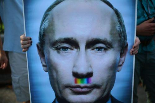 Putin rainbow mustache